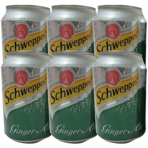 6x Schweppes Ginger Ale 300ml