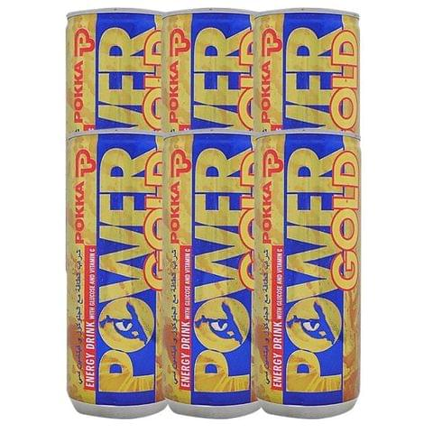 OFFER - 6x Pokka Power Gold Energy Drink 240ml