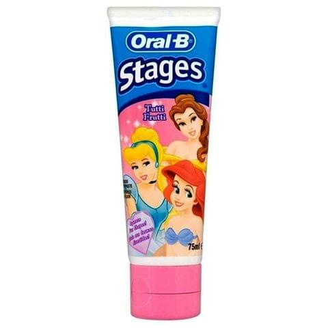 Oral-B Stages Tutti Frutti Fluoride Kids Toothpaste 75ml