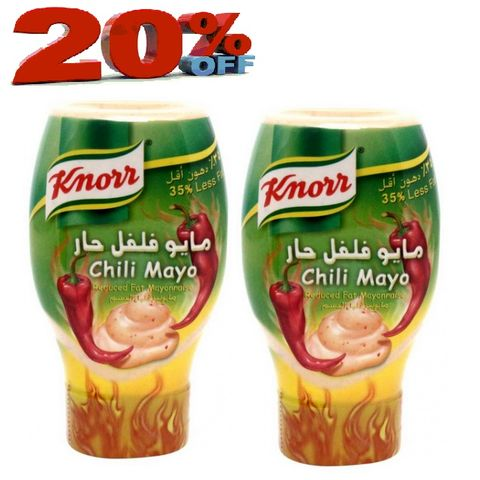 Knorr Mayo Chilli 295ml twin Pack20%Off