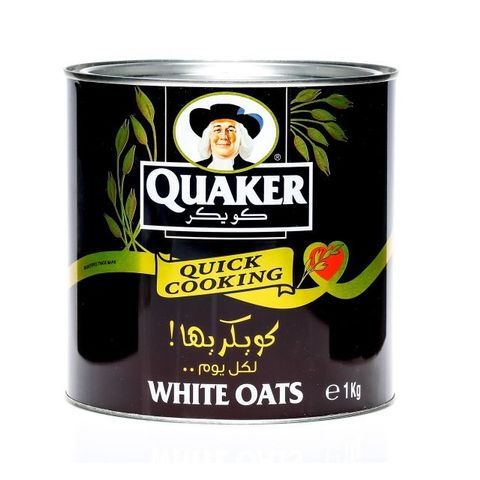 Quaker Quick Cooking Oats Tin 1kg