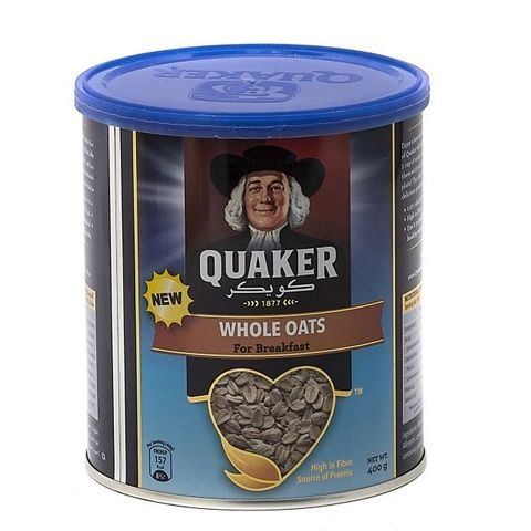 Quaker Whole Grain Oats Tin 400g