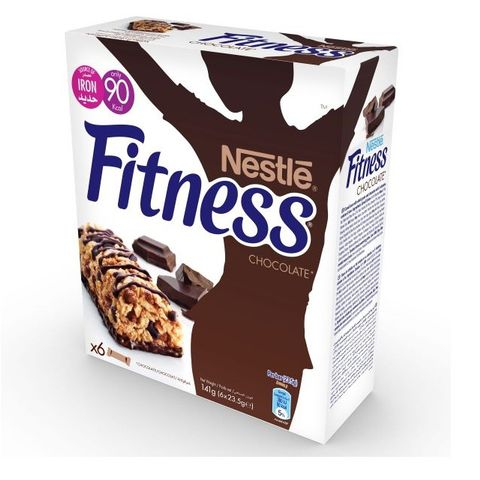 Fitness Chocolate Cereal Bar 6x23.5gm