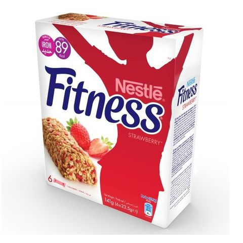 Fitness Strawberry Cereal Bar 6x23.5gm