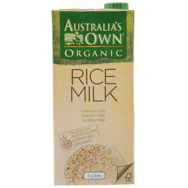 Australia's Own Organic Rice Milk 1ltr