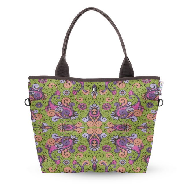 Bohemian Fountain Wide Tote Bag