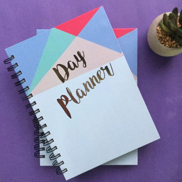 Geometric Summer Day Planner