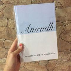Customised Name & Quote Journal-Blue