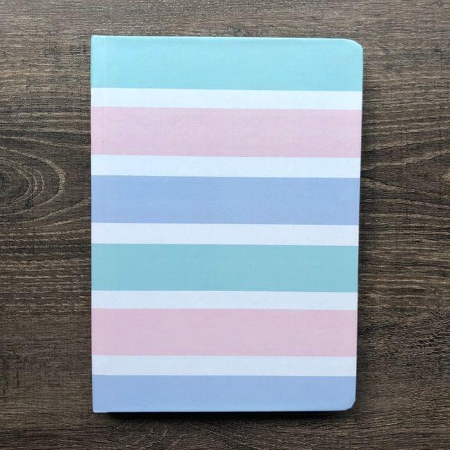 Multi-Coloured Stripes Hardbound Journal;