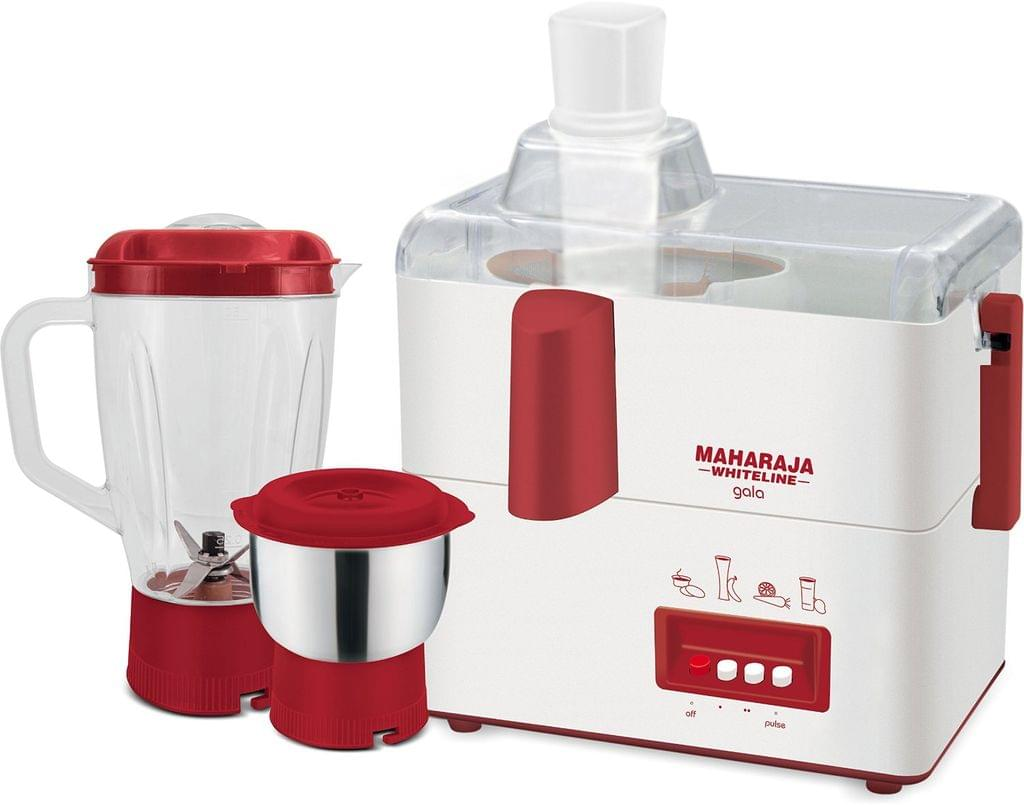 Maharaja Whiteline Gala JX-117 450-Watt Juicer Mixer Grinder with 2 Jars