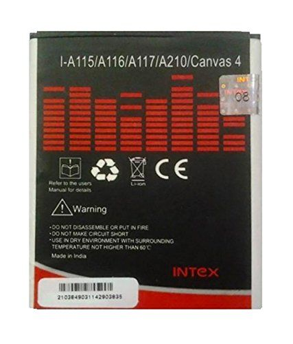 Intex Battery - A115 Battery For Micromax Canvas 3d And Canvas 4 (1700 Mah)(Black)