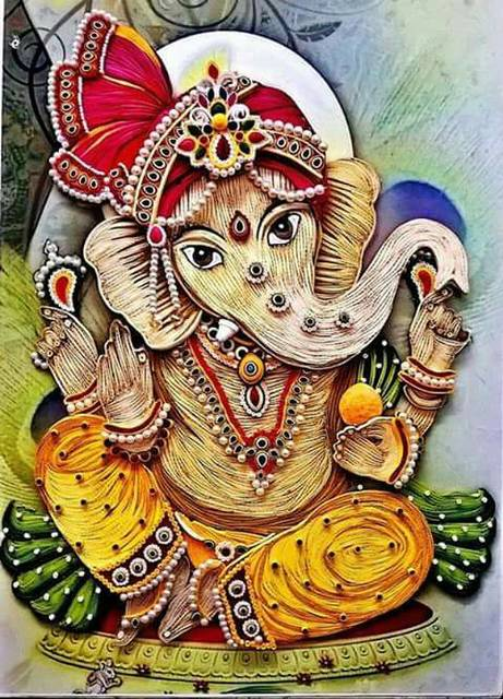 Ready Quilled Ganesha D