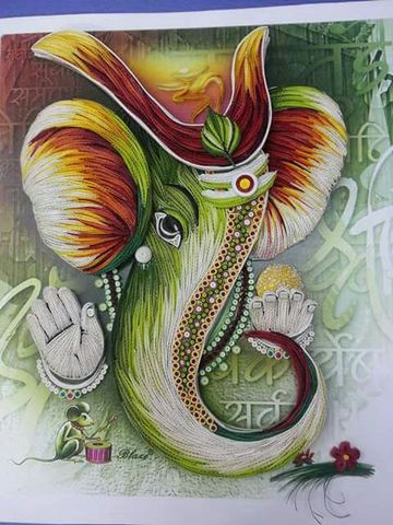 Ready Quilled Ganesha E
