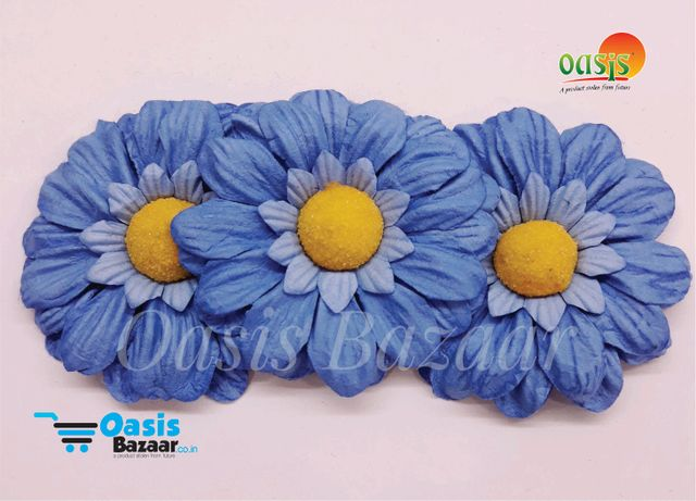 Sun Flowers Color Aqua Blue And Yellow 11