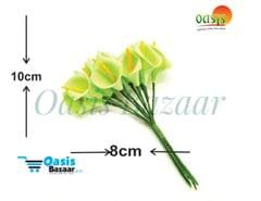 Calla Lily (Foam Fillers) 24 Fillers of Packet Light Parrot Green in color