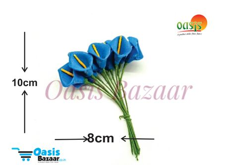 Calla Lily (Foam Fillers) 24 Fillers of Packet Navy Blue in color