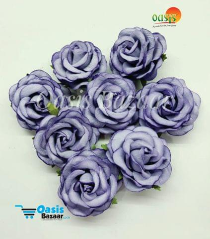 Mulberry Big Rose Flowers Purple in Color Pack of 8 Flower