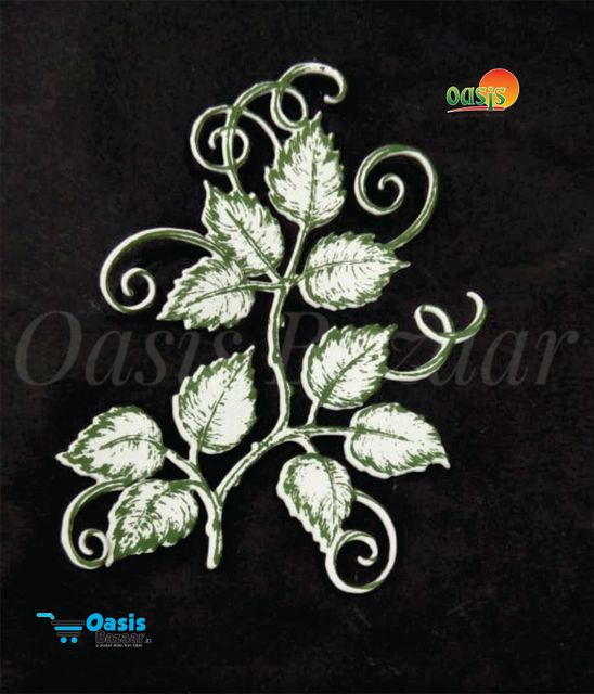 Paper Die Cut Classic Rose Wine Leaves 02 With Stamp 10pcs in Pack.