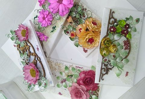 Paper Die Cuts Envelop Course With Material