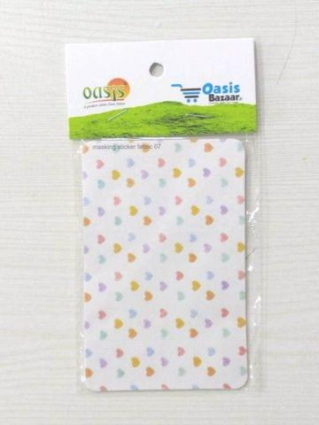 Oasisbazaar Masking Sticker White Hearts.