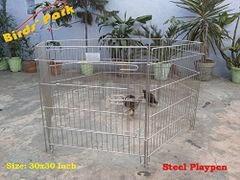 "Steel PlayPen-Steel Cage 30""- Good corral for Dog Pup Rabbit & all small animals ""WE SHIP BY AIR"""