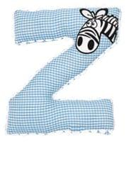 Alphabet Cushion Z-BLUE ZEBRA