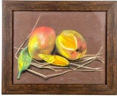 "Mangala Art Fruits Canvas Oil Paintings Wall Decor 22x28cms (9""x11"")"