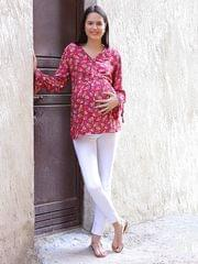 Pink Blush Rayon Pink Top