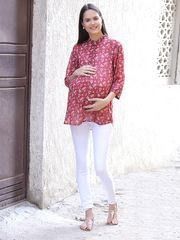 Wine Maternity Top