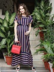 Rayonnante Nautical Stripes Maternity & Nursing Dress