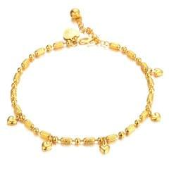 Gold Plated Heart Charms Anklet