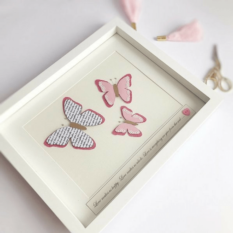 Butterfly Frame - Pink