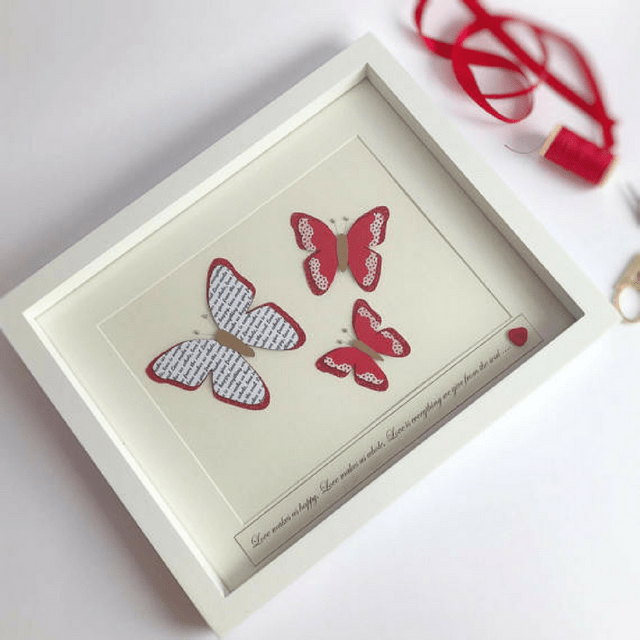 Butterfly Frame - Red