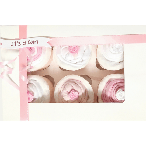 Baby Clothes Cupcakes x 6 - Baby Girl