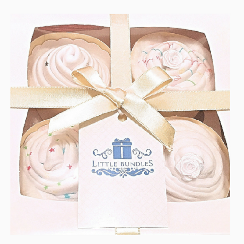 Baby Clothes Cupcakes x 4 - Unisex