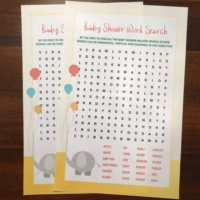 Word Search Game - Elephant Theme