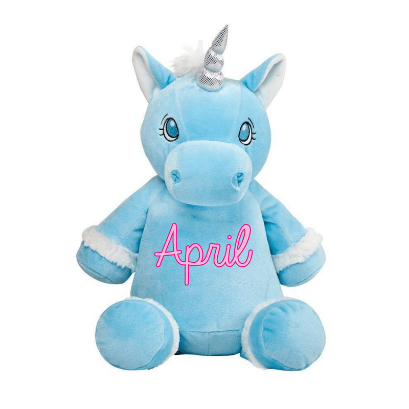 Personalised Blue Unicorn