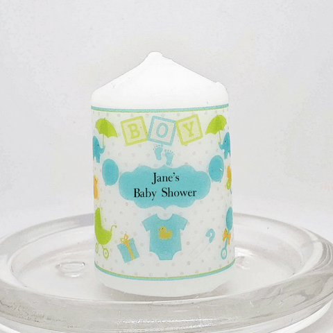 Personalised Candle Favours - Blue