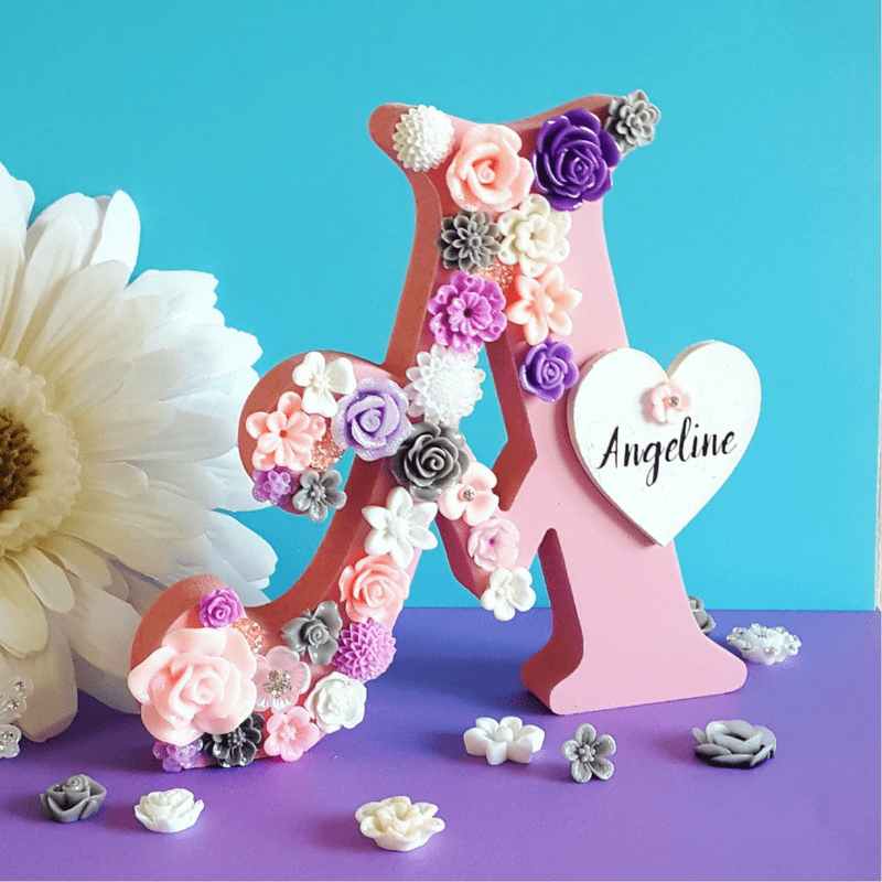 Freestanding Letters - Pink & White