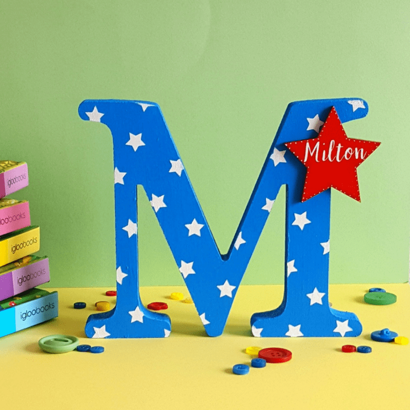 Freestanding Letters - Blue & Red