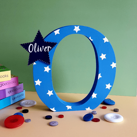 Freestanding Letters - Blue & Navy