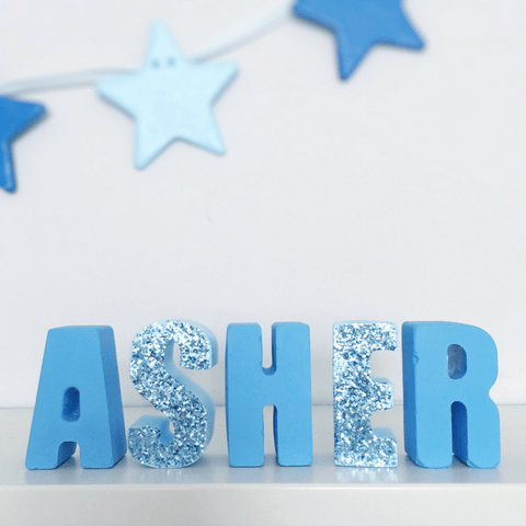 Blue Freestanding Letters