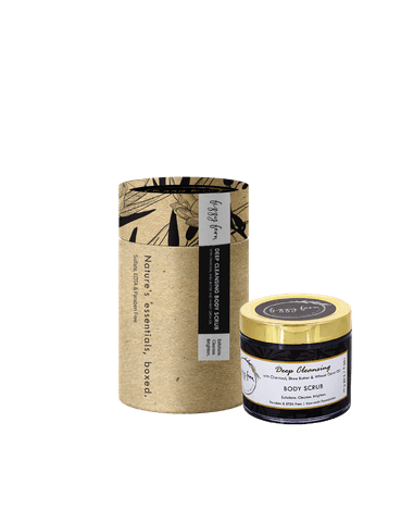 Deep Cleansing Body Scrub with Charcoal, Shea Butter and Wheat Germ Oil