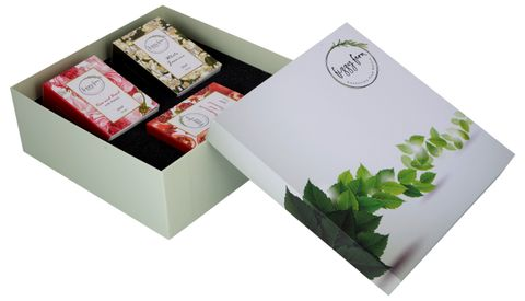 The Daily Soaps Gift Box (Rose, Jasmine, Pomegranate)