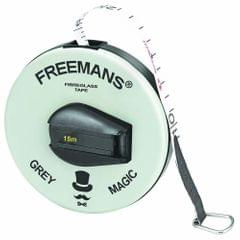 Freemans - Grey Magic - Fibre Glass - Measuring Tape 15 Meters