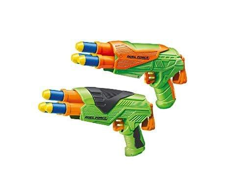 Buzz Bee Air Warrior Duel Force 2 Pack Blaster Toy Gun with 6 Long Distance Darts