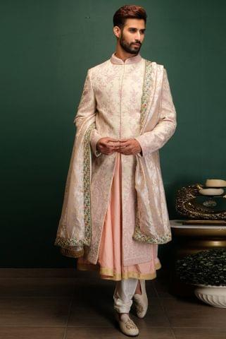 Pink Dori Work Sherwani Set