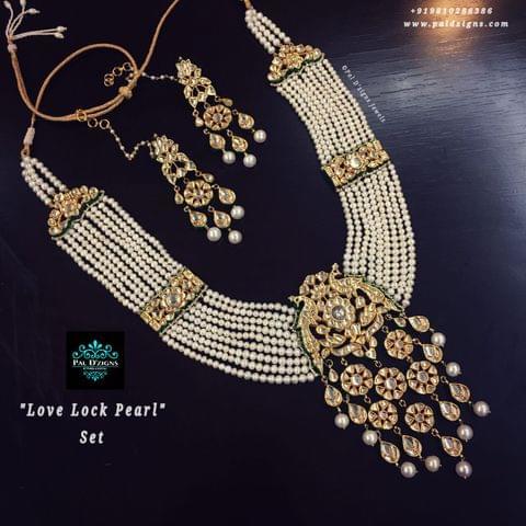 Love Lock pearl kundan set