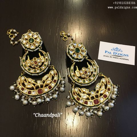 Chandpali Kundan Earings