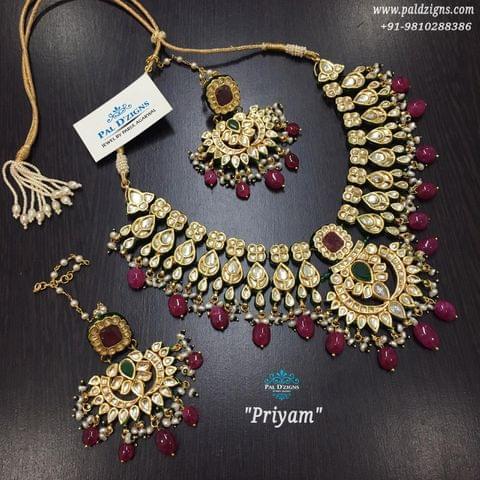 Priyam Ruby Emerald Set